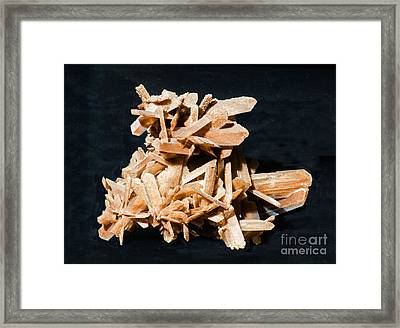Selenite Crystals Framed Print