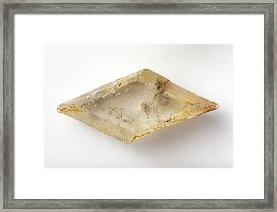 Selenite Gypsum Framed Print by Dorling Kindersley/uig