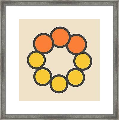 Selenium Disulfide Molecule Framed Print