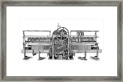 Self-acting Spinning Mule Framed Print by Science Photo Library
