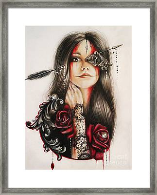 Self Affliction Framed Print by Sheena Pike