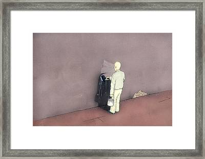 Self-censorship Framed Print