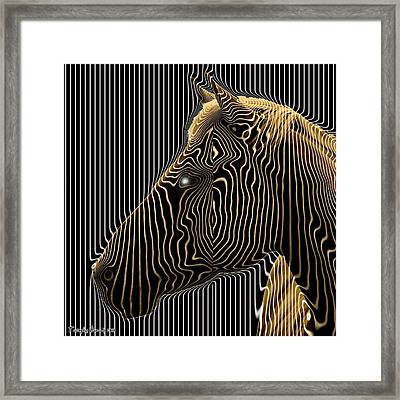 Self-conscious Attempt To Become Zebras.  2013  80/80 Cm.  Framed Print by Tautvydas Davainis