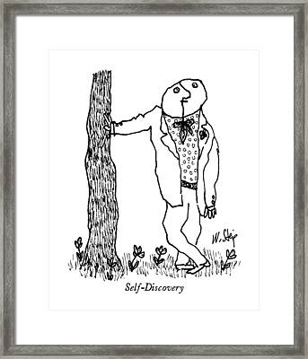 Self-discovery Framed Print by William Steig