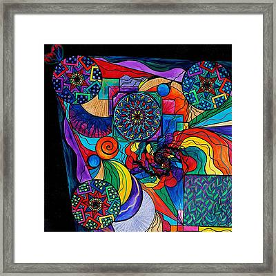 Self Exploration Framed Print by Teal Eye  Print Store