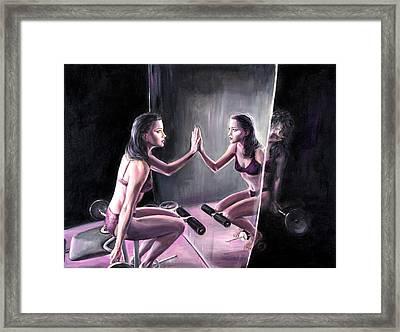 Self Loathing Framed Print by Evelyn Astegno