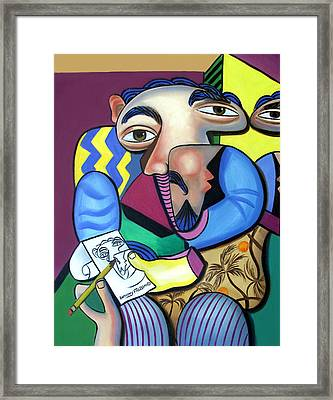 Self Portrait 101 Framed Print by Anthony Falbo