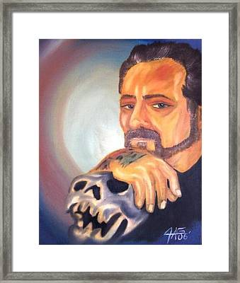 Framed Print featuring the painting Self Portrait 2006 by The GYPSY And DEBBIE