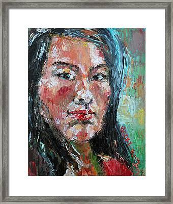 Self Portrait 2013 - 1 Framed Print by Becky Kim
