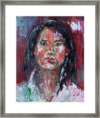 Self Portrait 2013 -2 Framed Print by Becky Kim