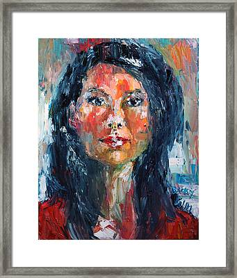 Self Portrait 2013 - 4 Framed Print