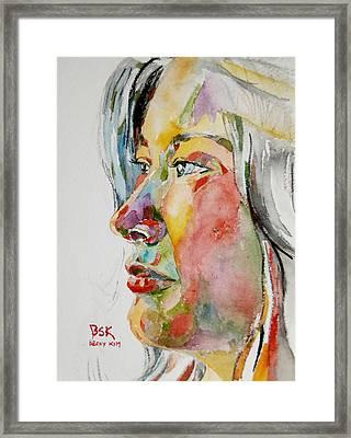 Self Portrait 4 Framed Print by Becky Kim
