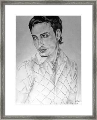 Self Portrait Framed Print by Alban Dizdari