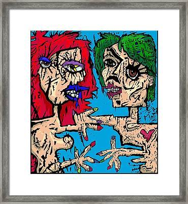Self Portrait As Man Stroke Woman Framed Print by Brett Sixtysix