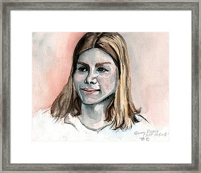 Self Portrait At 15 Framed Print by Genevieve Esson