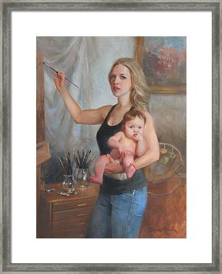 Self Portrait At 29 Framed Print by Anna Rose Bain