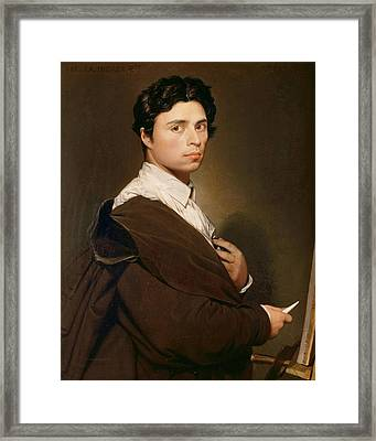 Self-portrait At Age 24 Framed Print by Jean-Auguste-Dominique Ingres
