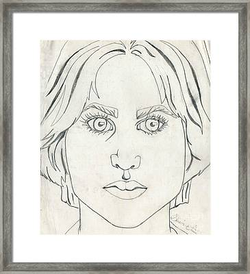 Self-portrait At Seventeen Framed Print by Genevieve Esson