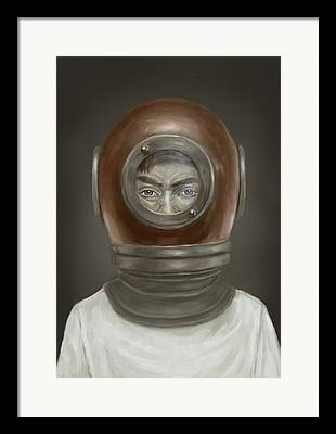 Diving Helmet Framed Prints