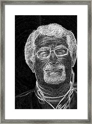 Framed Print featuring the photograph self portrait BW by Gary Brandes