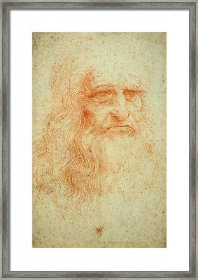 Self Portrait Framed Print by Leonardo da Vinci