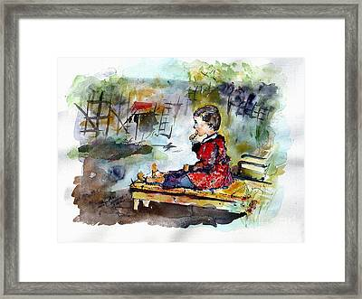 Self Portrait Childhood Framed Print by Ginette Callaway