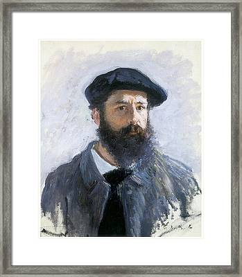 Self-portrait Framed Print by Claude Monet