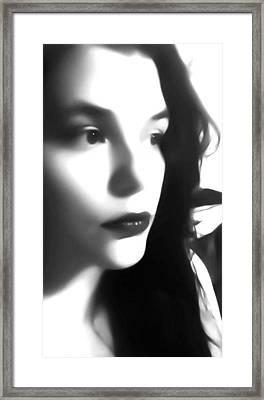 Self-portrait For Nancy Framed Print