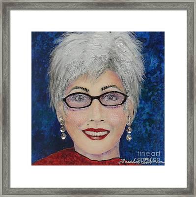 Self Portrait Framed Print by Freddie Lieberman