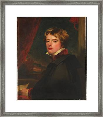 Self-portrait Framed Print by George Henry Harlow
