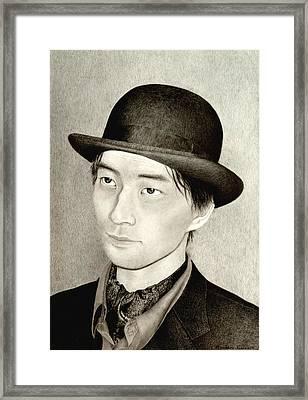 Self Portrait Framed Print by Hirokazu Tomimasu