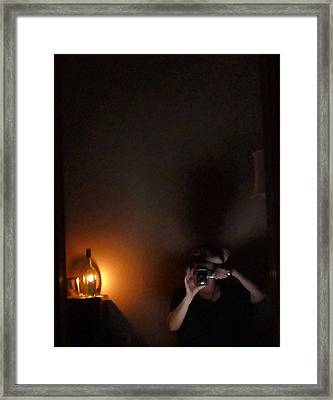 Self Portrait In Ancient Lighting Framed Print
