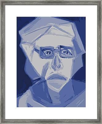 Self Portrait In Cubism Framed Print