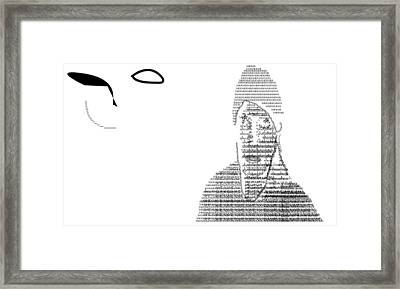 Self Portrait In Text Framed Print