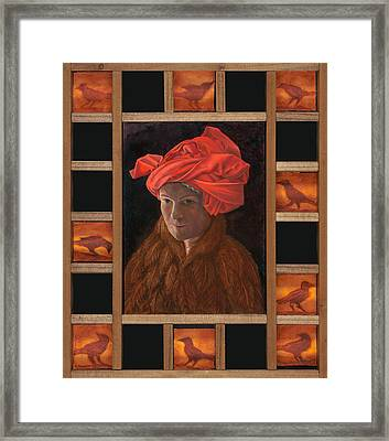 Self-portrait In The Red Turban Framed Print
