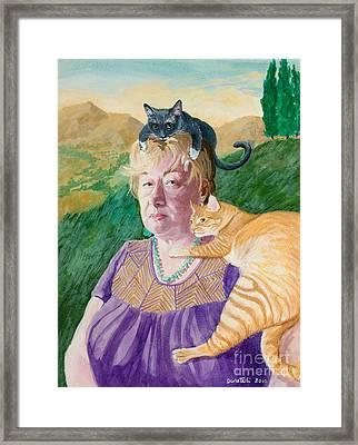 Self Portrait In The Spirit Of Frida Kahlo Framed Print