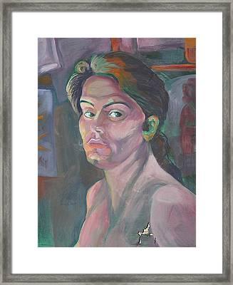 Self Portrait Framed Print by Julie Orsini Shakher