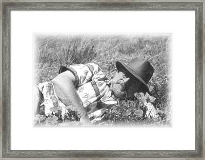 Framed Print featuring the photograph Self Portrait Lazy Day by Gary Brandes