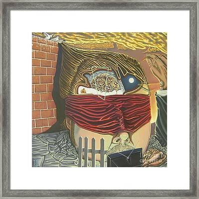 Subconcious Self Portrait Framed Print by Mack Galixtar
