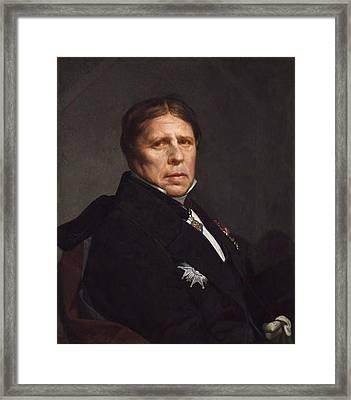 Self-portrait Framed Print by Jean-Auguste-Dominique Ingres