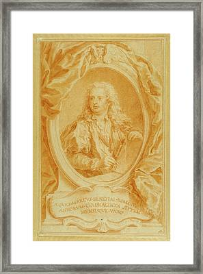 Self-portrait Marco Benefial, Italian Framed Print by Litz Collection