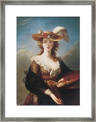 Self Portrait Framed Print by Marie Louise Elisabeth Vigee-Lebrun