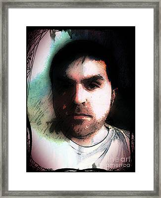Self Portrait Metal Framed Print by Jose Benavides