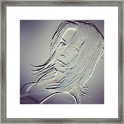 Self-portrait #mgmarts #selfportrait Framed Print