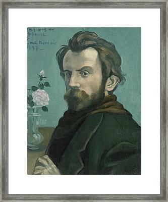 Self-portrait, Émile Bernard Framed Print