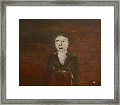 Self-portrait Framed Print by Min Zou