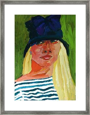 Self-portrait No . 1 Framed Print by Janet Ashworth