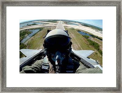Self Portrait Of A Pilot In The Back Framed Print by Stocktrek Images