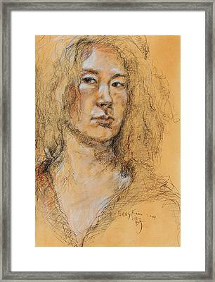 Self Portrait Of Becky Kim 2014 01 Framed Print
