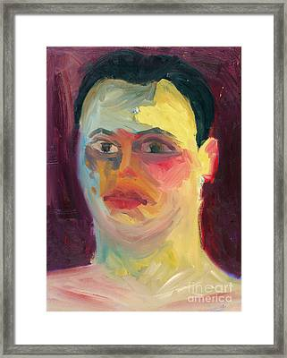 Self Portrait Oil Panting Framed Print